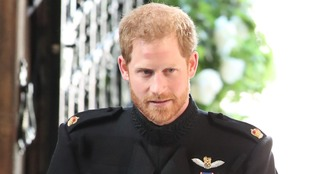 Prince Harry shed a few tears at his wedding reception.