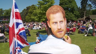A spectator at Sandringham gets into the party spirit