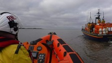 Major rescue operation on the Solway