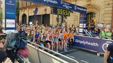 Tens of thousands of runners take part in The Great Manchester Run