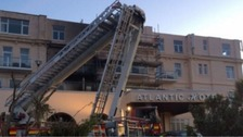 Newquay hotel evacuated after fire breaks out