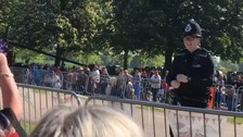 Dancing policeman leaves Royal Wedding crowds smiling in Windsor