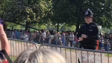 Dancing policeman leaves Royal Wedding crowds smiling in Windsor