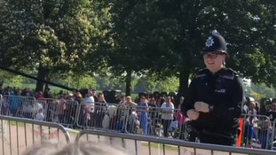Jake the policeman left crowds smiling in Windsor.