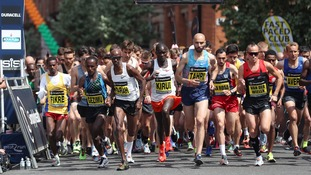 An estimated 30,000 runners took part on Sunday.