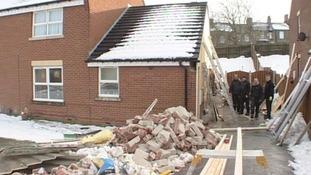 Damaged home, Barnsley