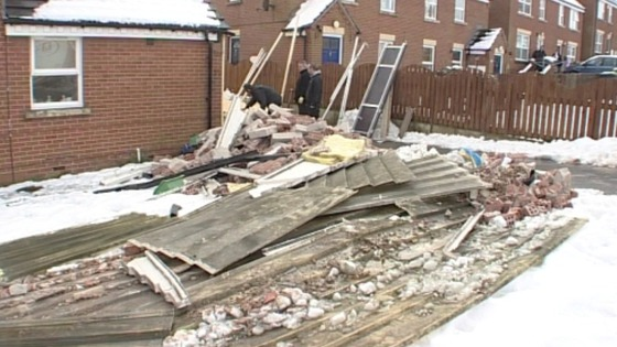 Damaged home, Barnsley