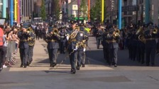 City centre parade marks centenary of the Air Force
