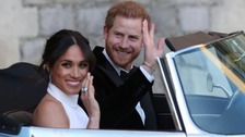 Harry and Meghan leave Windsor Castle after 'all-night royal party'