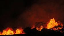 Man's leg 'shattered' by lava spray from Hawaii volcano
