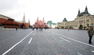 A view of Red Square in Moscow, just outside the walls of the Kremlin