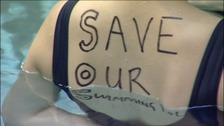 Protests against the possible closure of Newcastle City Pool