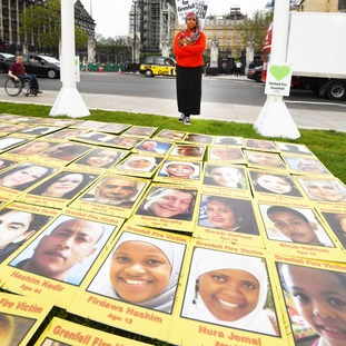 Faces of the victims of the Grenfell disaster