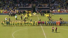 The match at Carrow Road was watched by nearly 18,000 people.