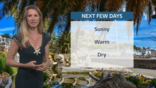 Sunny and dry! Sophia has the latest forecast