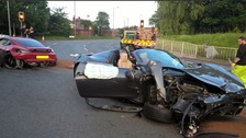 Police search for driver after two super cars are in collision in South Yorkshire