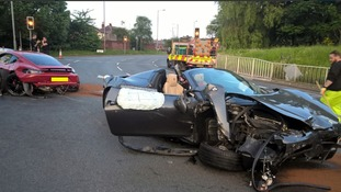 The 26-year-old Porsche driver suffered minor injuries.