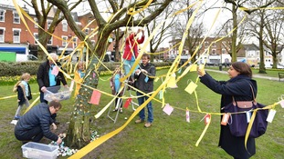 In April, trees were decorated in support of Nazanin, marking the 2nd anniversary of her detention in Iran.