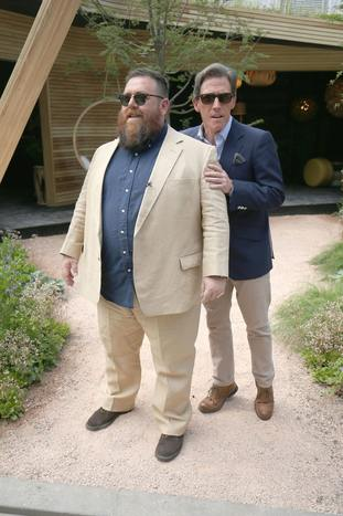 Nick Frost and Rob Brydon.