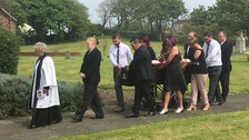 Christopher Peck's funeral taking place in Workington at St Mary's Church of England.