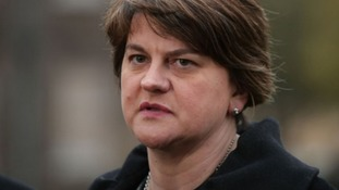 Arlene Foster was speaking at an event in London.