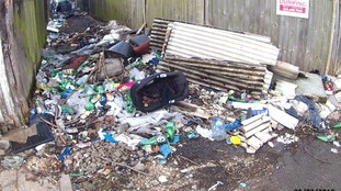 The lorry was linked to 28 fly-tipping offences