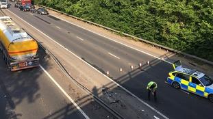 Multi-vehicle crash on A12 in Essex