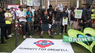 Demonstrators demand justice for Grenfell vicitms and their families