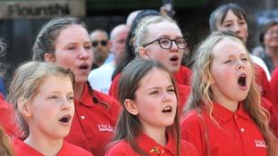 School children add their voices