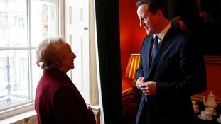 David Cameron meets Holocaust survivor Freda Wineman of the Holocaust Educational Trust at Downing Street