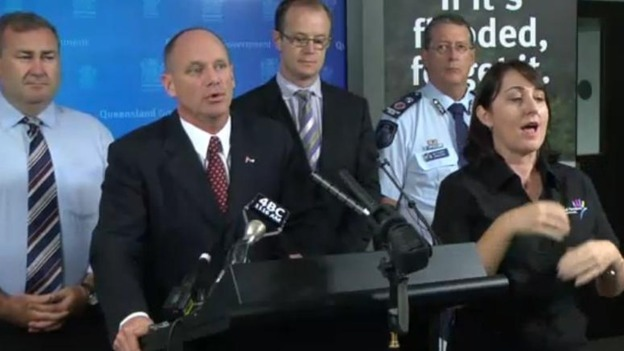 The Queensland police press conference