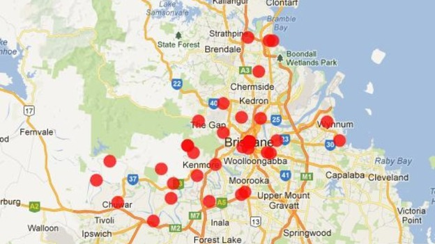 The Brisbane City Council crowdmap