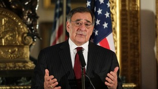 US Defence Secretary Leon Panetta in London on January 19.