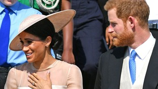 Prince Harry and Meghan Markle make first public appearance as a married couple