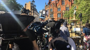 Media from across the globe has come to Manchester to capture the anniversary commemoration