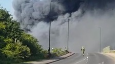 Fire breaks out at South Yorkshire industrial unit