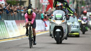 Simon Yates keeps the pink jersey after time-trial stage 16 at the Giro d'Italia as Rohan Dennis wins