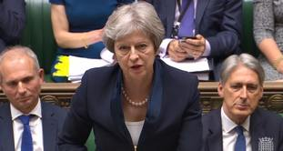Theresa May defended the Government's healthcare record.