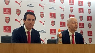 New Arsenal manager Unai Emery addresses the media in his first press conference