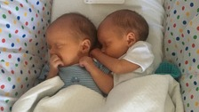 Aisling Creevey's twin boys Tiernan and Oisín.