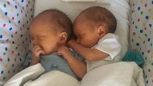 Aisling Creevey's twin boys Tiernan and Oisín.