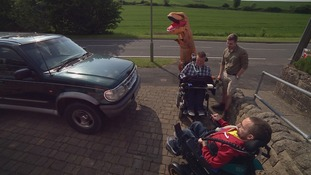 Tyran's brothers, father and grandfather are embarking on an epic jurassic-themed car rally.