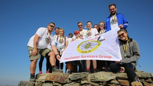 The Manchester Survivors Group at the summit of Snowdon