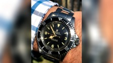 The Rolex Submariner 5513 has a rare Explorer 3-6-9 dial.