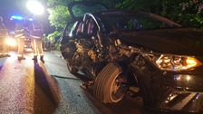 Four teenagers arrested after car crash in West Yorkshire