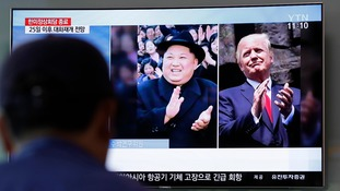 Kim Jong Un and Donald Trump are due to meet next month.