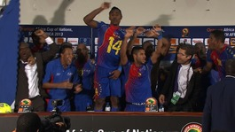 Scenes! Cape Verde squad invade press conference after win over Angola