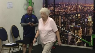 85-year old Kathleen Hall keeping fit