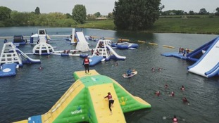 The biggest inflatable water park in the UK is back open for the summer
