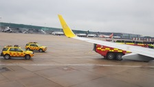 Two planes 'clip each other' on runway at Stansted airport